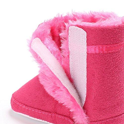 Kinderschuhe Mädchen mit Winter Schneeflocken Herbst und Pfirsich Modisch Mehr Schneestiefel YiJee Villus Elegant Baby pqnZWvvA