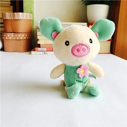 FJYDHR Mini Pig Anime Cadena rellena Colgante Muñecas ...