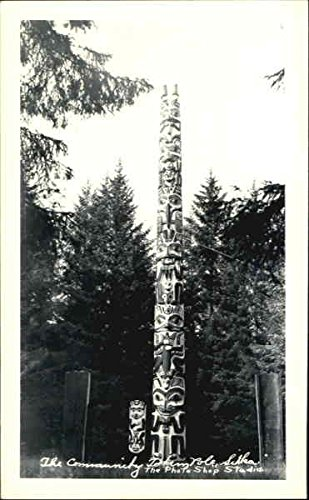 (The Community Totems Pole Sitka, Alaska Original Vintage Postcard)