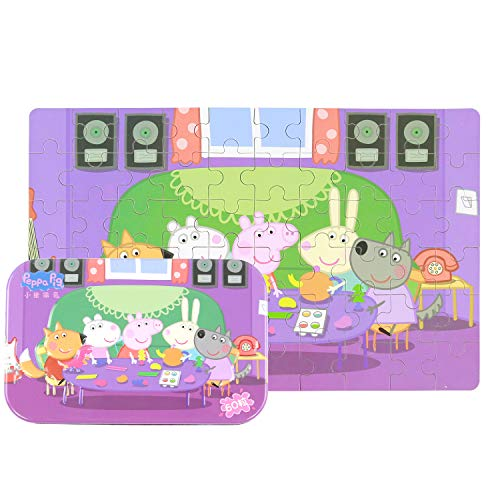 Yale Peppa Pig Kid 60 Piece Jigsaw Puzzle Game for 3-8 Age,Portable Box Pack -