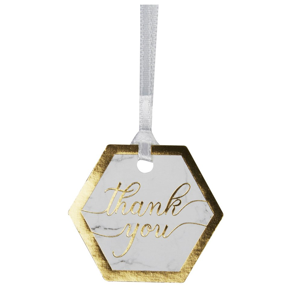 Neviti Pack of 10 Luggage Tags Scripted Marble