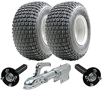 Quad trailer ruedas Wanda Steel Press producci/ón de cubo // tal/ón ATV kit de remolque sin enganche 200kg