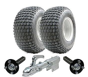 Juego de remolque ATV - Quad remolque - ruedas Wanda + Steel Pulse centro de producción / ramal, 200kg giratoria Enganche: Amazon.es: Coche y moto