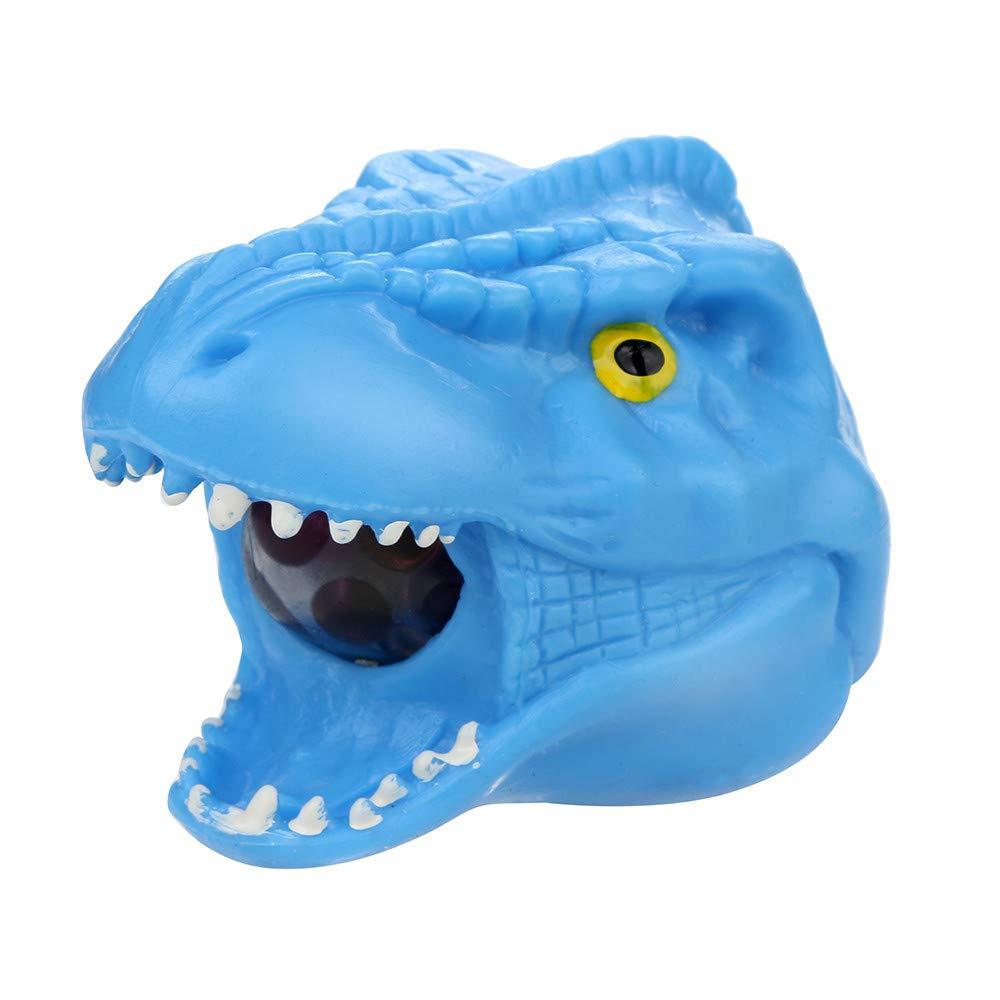 Bescita Stressabbau-Spielzeug, Spongy Bead Rainbow Ball Schildkröte Squishies Langsam Steigende Squeeze Toys Duft Stressabbau Spielzeug 9CM (Blau)