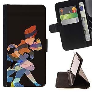 Jordan Colourful Shop - kiss fairy tale prince princess art drawing For LG G2 D800 - < Leather Case Absorci????n cubierta de la caja de alto impacto > -