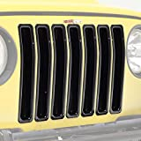03 wrangler tj grille inserts - E-Autogrilles Black ABS Trim Grille Grill Cover Insert for 97-06 Jeep Wranngler TJ (7PCS) (41-0139)
