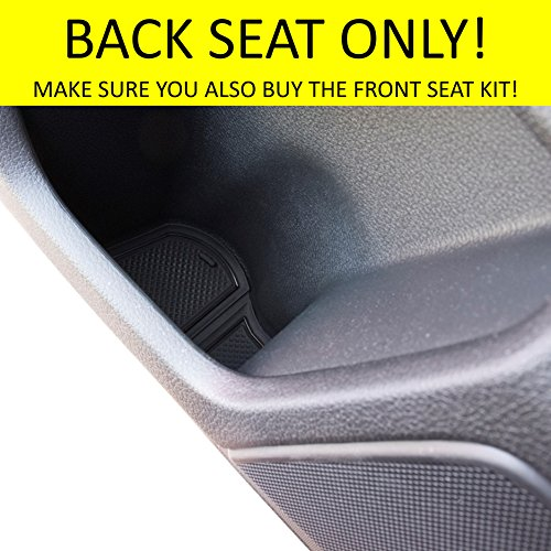 Custom Fit Cup, Door and Center Console Liner Accessories for Honda Civic 2018 2017 2016 4-pc Set (Hatchback Back Seat, Solid Black)