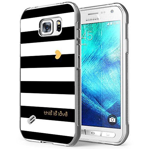 - S6 Active Case Love,Gifun Soft TPU [Anti-Slide] and [Drop Protection] Protective Case Cover for Samsung Galaxy S6 Active W White Black Gold Love