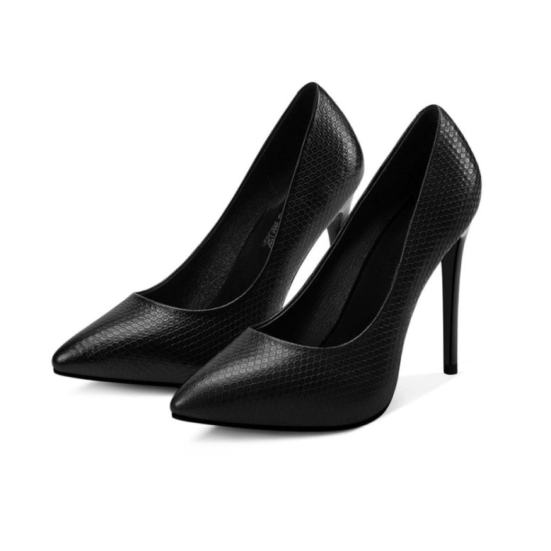c74bdcd419a Caliente de la venta snfgoij Zapatos De Tacón Alto Negro De La Moda De La  Mujer ...