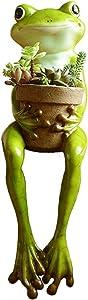 LUOER Succulent Flower Pots/Resin Plant Pot (Cute Frog Shaped) Table Ornament European Pastoral Style Craft Cartoon Garden Decor Outdoor Patio Ornaments Art Figurines Home Decor, 3