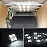 OUTAD Van Interior Light Kits,12V 40 LEDs Car Reading Lights LED Ceiling Lights Kit for Van Boats Caravans Trailers Lorries (10 Modules, White)