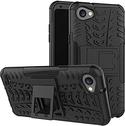 sale retailer cf0de eb76d ZYNK CASE Armour Shock Proof Back Cover for LG Q6, 2017(Black)
