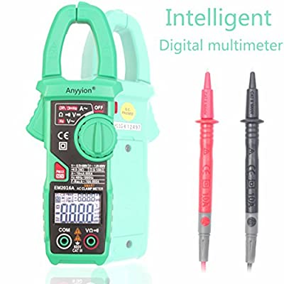 AI Clamp Meter Auto-Ranging Multimeter with Voltage Digital Multimeters Ammeter Resistance Continuity Measurement Tester ( One key smart operation )