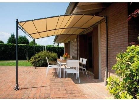 Cenador Pergola de pared 4 x 3 metros: Amazon.es: Jardín
