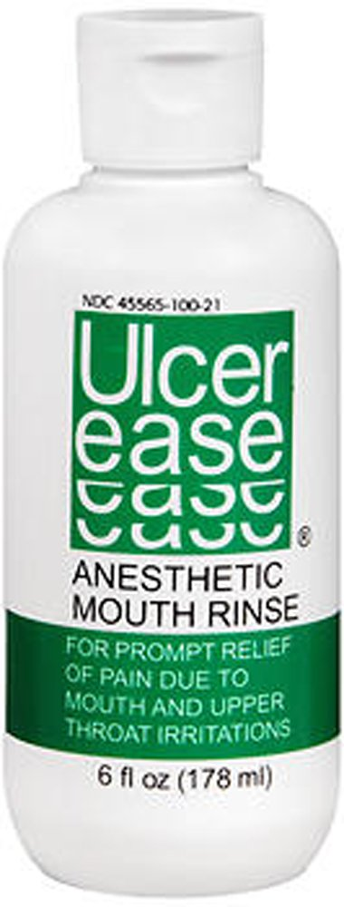Ulcer Ease, Anesthetic Mouth Rinse - 6 oz, Pack of 4