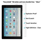 [Pack of 2] Gzerma for Fire HD 10 2017 Screen Protector, Shock Proof, Touch Accuracy, High Definition Clear, Easy to Install, Front Protective Cover Film for Amazon Fire HD10 Tablet 7th generation