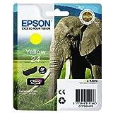 Epson C13T24244012 24 Series Elephant Claria Photo HD Ink Cartridge, Yellow, Genuine