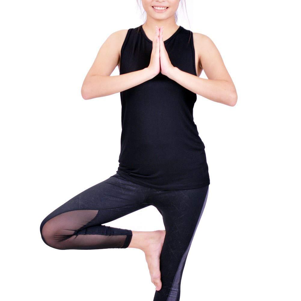 f29e15db12fbc Lofbaz Femme Sexy torsadée Dos Ouvert Yoga Chemise Faire des Exercices  Vêtements Le Sport débardeur Les Hauts: Amazon.fr: Vêtements et accessoires