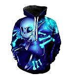 MaeFte Undertale Sweater Blue Cosplay Costumes sans Skull Hoodie (XL, Blue)