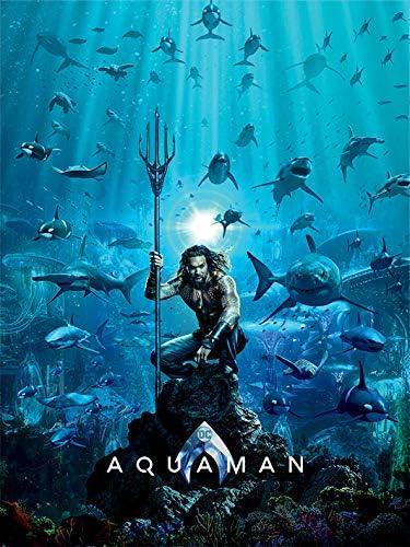 Multicolore 60 x 80cm Aquaman Teaser Impression sur toile