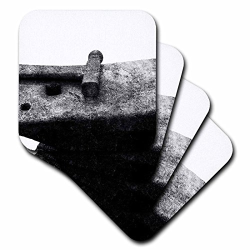 Anvil Coaster Set - 3dRose Alexis Photography - Objects - Heavy iron anvil and small hammer. Free space for custom text - set of 4 Coasters - Soft (cst_271893_1)