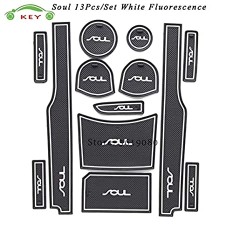 Car Gate Slot Mat For Kia Soul Door Pad Rubber Cup Groove Mat