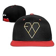 Kpop EXO Gold Logo Baseball Snapback Cap