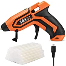 Hot Glue Gun, Tacklife PGG01B 3.6V Mini Cordless Glue Gun 2600mAh-18650 USB Rechargeable Li-ion Battery with 45 PCS EVA Glue Sticks Flexible Trigger & Heating up Quickly - Temp and Battery Indicators