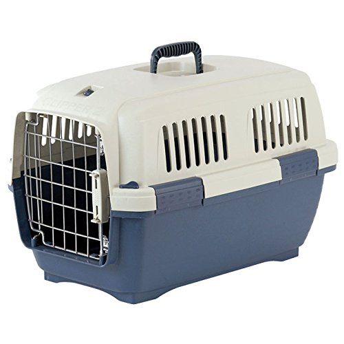 Cayman Pet Carrier – Beige and Blue – 22.25 in. x 14.5 in. x 14.25 in.