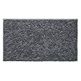 Vdomus Soft Microfiber Shag Bath Rug Extra Absorbent and Comfortable Anti-Slip Machine-Washable Large Bathroom Mat (22X39Inch, Grey)