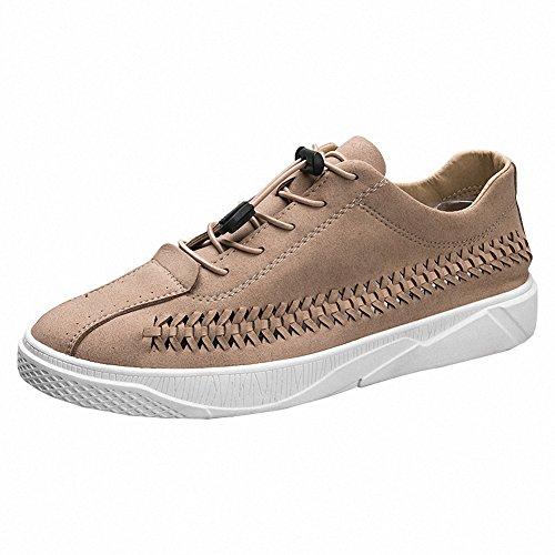 Ben Sports Hombre Calzado de skateboarding para hombre Zapatos de cordones deportivo de exterior hombre beige