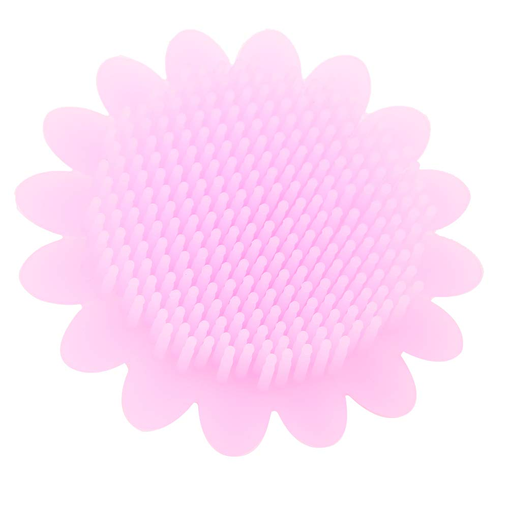 Baby Hair Scalp Massager, Baby Silicone Scrubber, Beautiful Colors Perfect Decoration Education Child(Pink)