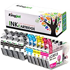 Kingjet 3013 Ink Replacements for Brother LC3013 Ink Cartridges Compatible with MFC-J491DW MFC-J497DW MFC-J690DW MFC-J895DW Inkjet Printers 10 Pack(2Set + 2BK) ★Little Tips1: It'd be better to keep the printer power-on if you often use it, as...