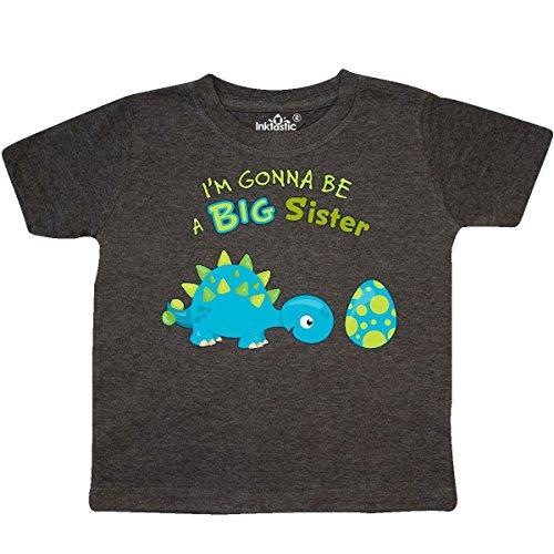 inktastic - Happy Dinosaur Future Big Toddler T-Shirt 3T Retro Heather Smoke