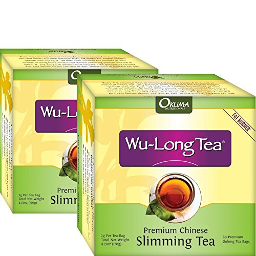 Premium Chinese Slimming WuLong Tea - All-Natural Weight Loss, Diet, Detox and Anti-Acne Oolong tea - Pure WuYi Oolong - 2 month supply with 120 tea bags by Okuma Nutritional