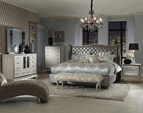 hollywood swank queen graphite bedroom set by aico amini