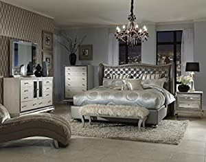 hollywood swank queen graphite bedroom set by