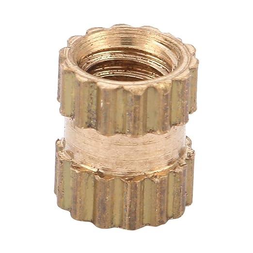 Brass Insert 150pcs M2.5 Brass Cylinder Knurled Round Molded-in Insert Embedded