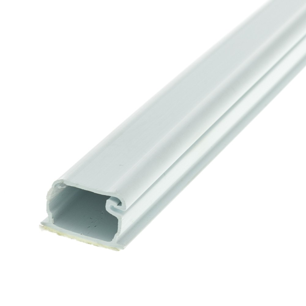 ACL 1.25 inch Surface Mount Cable Raceway (Straight 6 foot Section), White, 4 Pack