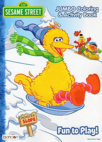Christmas Holiday Sesame Street Fun To Play Jumbo Coloring Amp Activity Book For Kids 96 Pages Buy Online In Belize At Belize Desertcart Com Productid 37434516