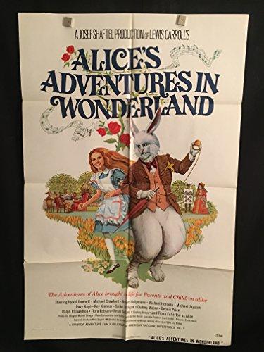Alice's Adventures In Wonderland 1972 Original Vintage One Sheet Movie Poster, Dudley Moore, Kids, Fiona Fullerton, Alice In - Sheets Fiona