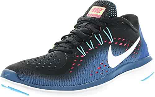 check out 7a112 4529b Nike Womens Free Rn 2017 Low Top Lace Up Running Sneaker, Blue, Size 6.0