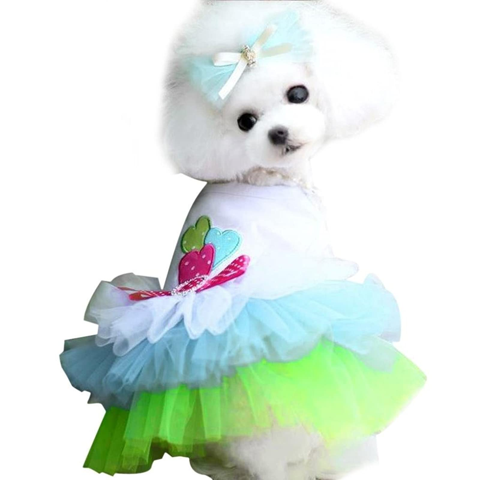 OutTop Girl Dog Dress Lace Princess Tutu WSM60224084S_YD - 6