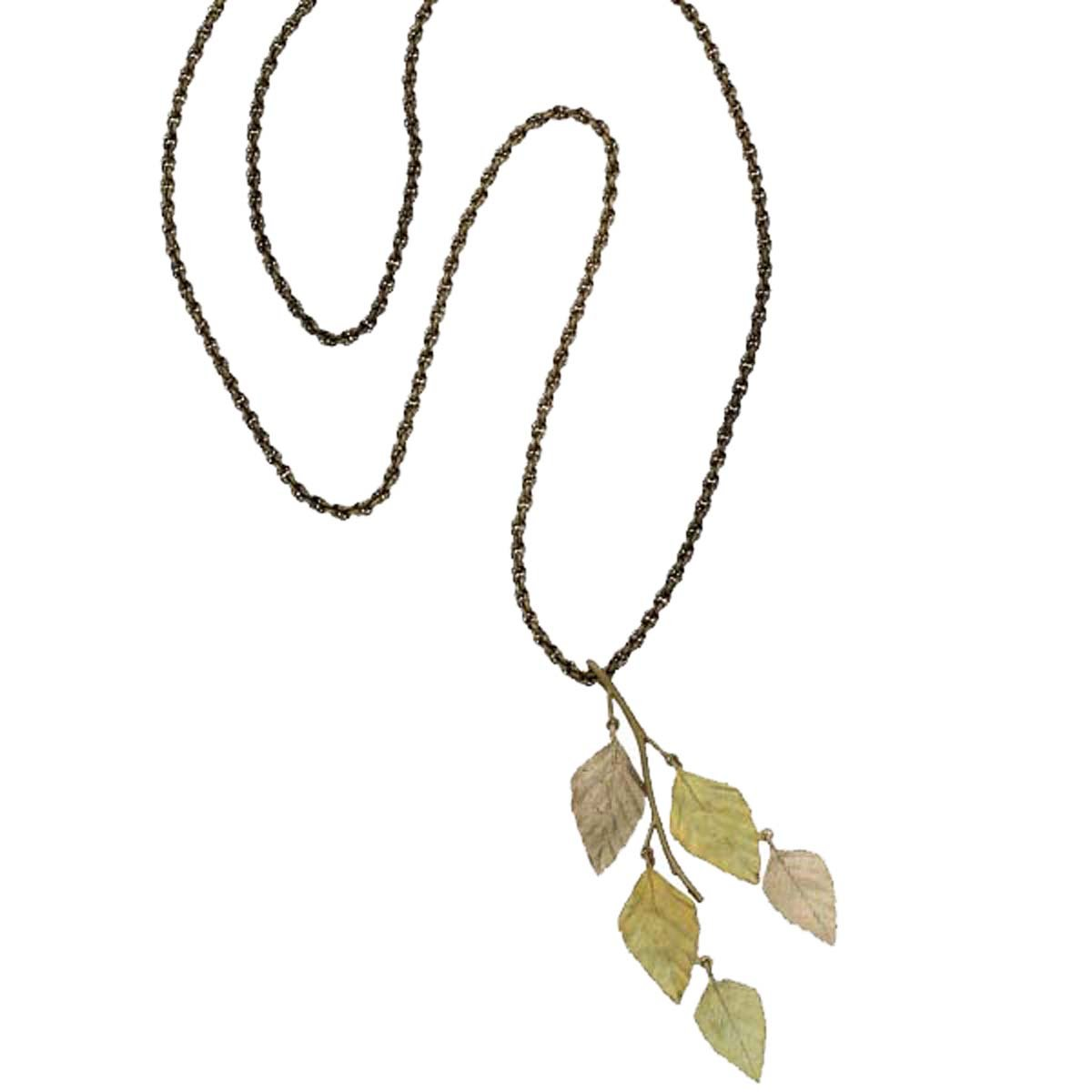 ''Autumn Birch'' Long Necklace By Michael Michaud for Silver Seasons…