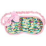 9f1198ec5f73 Amazon.com  JoJo Siwa Payette Heart Rainbow Green Sleeping Mask ...