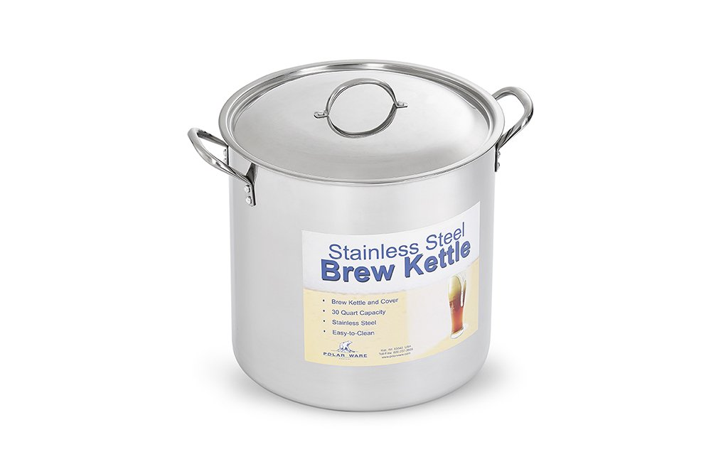 Polar Ware Stainless Steel Brew Pot with Cover, 16-Quart 0T160WC