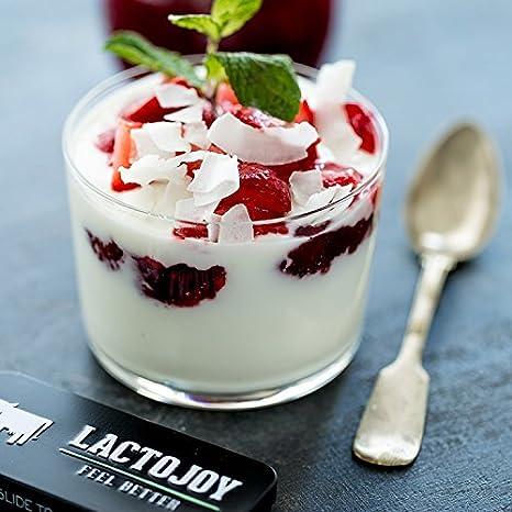 Comprimidos lactasa LactoJoy | 45 piezas • dosis alta de lactasa (14.500 FCC) • sólo ingredientes vegetales • Facilita la digestión de la lactosa • libre de ...