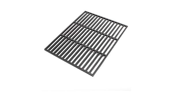 Rejilla para barbacoa parrilla asado hierro fundido rectangular 45 x 35 cm: Amazon.es: Jardín