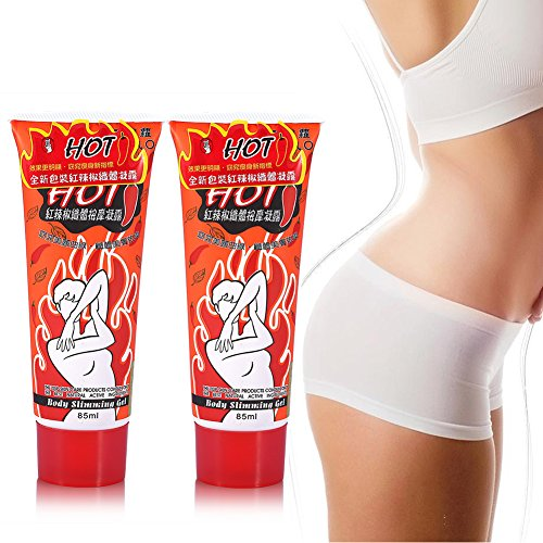 Slimming Cream,2Pcs Hot Chili Massage Body Fast Burn Fat Gel With Intense Thermogenic Action