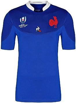 Camiseta De Rugby para Hombres, Entrenamiento De Competición, Sudor Transpirable, Ropa para Fanáticos, Equipo Nacional Francés: Amazon.es: Deportes y aire libre